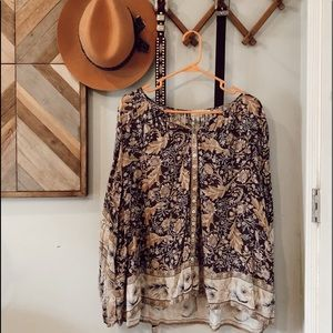 NWOT Spell and the Gypsy Oasis Blouse Nightshade